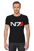 "Футболка Стрэйч (Мужская) ""N7 (Mass Effect)"" - mass effect, n7, масс эффект"