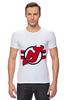 """Футболка Стрэйч """"New Jersey Devils"""" - хоккей, nhl, нхл, нью-джерси девилс, new jersey devils"""