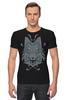 "Футболка Стрэйч ""Волк Узор"" - wolf, арт, волк, дизайн, узор"