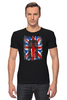 "Футболка Стрэйч (Мужская) ""10th флаг UK (Доктор Кто)"" - doctor who, bbc, флаг, uk, доктор кто, тардис"