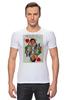 """Футболка Стрэйч """"Королева сердец"""" - любовь, карты, рисунок, винтаж, королева"""