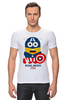 "Футболка Стрэйч (Мужская) ""Minion America                             "" - арт, юмор, comics, супергерои, marvel, миньоны, superhero, капитан америка, captain america, minion"