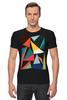 """Футболка Стрэйч (Мужская) """"Треугольники"""" - арт, абстракция, фигуры, треугольники"""