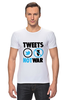 "Футболка Стрэйч (Мужская) ""Tweets Not War"" - fun, social"