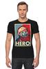 """Футболка Стрэйч """"Гагарин"""" - гагарин, герой, hero, космонавт, yuri gagarin"""