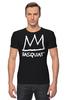 """Футболка Стрэйч (Мужская) """"Basquiat"""" - граффити, корона, basquiat, баския, жан-мишель баския"""
