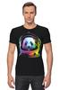 """Футболка Стрэйч (Мужская) """"Панда Космонавт"""" - панда, космос, абстракция, астронавт, космонавт"""