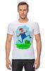 "Футболка Стрэйч (Мужская) ""Марио (Mario)"" - nintendo, mario, марио, грибочек"