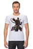 "Футболка Стрэйч ""Mortal Kombat"" - скорпион, mortal kombat, смертельная битва, мортал комбат, scorpion"