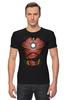 """Футболка Стрэйч (Мужская) """"Железный человек"""" - супергерои, мстители, железный человек, iron man, тони старк"""