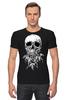 "Футболка Стрэйч ""Череп"" - skull, череп"