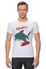 "Футболка Стрэйч ""Акула (Baywatch)"" - акула, shark, спасатели малибу, baywatch"
