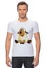 """Футболка Стрэйч (Мужская) """"Good Luck"""" - смешные, новый год, овца, sheep, 2015, овечка"""