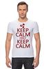 """Футболка Стрэйч (Мужская) """"Keep calm"""" - карлсон, спокойствие, keep calm, пропеллер, советские мультфильмы"""