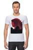 "Футболка Стрэйч ""Godzilla white"" - фантастика, фильмы, динозавры, годзилла, godzilla"