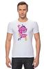 "Футболка Стрэйч (Мужская) ""My Little Pony: Friendship is Magic Logo"" - rainbow dash, my little pony, applejack, rarity, friendship is magic, fluttershy, twilight sparkle, pinkie pie"