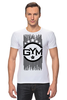 "Футболка Стрэйч ""!!! GYM !!!"" - бодибилдинг, gym, звёзды, сила, спортзал"
