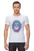 """Футболка Стрэйч (Мужская) """"Лев_Арт"""" - царь, king, лев, король, lion, animal, leo, львы"""