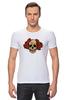 """Футболка Стрэйч (Мужская) """"Mrs. Skull"""" - череп, цветы, рисунок"""