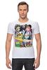 "Футболка Стрэйч (Мужская) ""Adventure Time "" - adventure time, время приключений, фин, джейк, jake, finn, бубльгум"