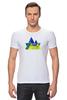 """Футболка Стрэйч (Мужская) """"Весна в горах"""" - орнамент, акварель, абстрактный, треугольный, геометрический"""