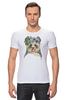"""Футболка Стрэйч """"Панда в венке"""" - цветы, панда, природа, panda, акварель"""