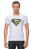 """Футболка Стрэйч """"Superman - камуфляж"""" - superman, россия, камуфляж, camo"""