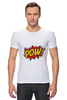 "Футболка Стрэйч (Мужская) ""Pooow!"" - boom, pop art, pow, blast"