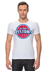 "Футболка Стрэйч ""Detroit Pistons"" - баскетбол, nba, detroit, нба, detroit pistons, детройт пистонс"