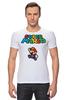 """Футболка Стрэйч """"Super Mario"""" - денди, dendy, марио, mario bros, 8bit"""