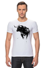 """Футболка Стрэйч (Мужская) """"Черный Бык"""" - животные, black, бык, bull"""
