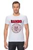 "Футболка Стрэйч ""Rambo"" - боевик, рэмбо, сильвестр сталлоне, rambo, sylvester stallone"
