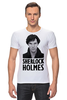 "Футболка Стрэйч (Мужская) ""Sherlock Holmes"" - лондон, sherlock, шерлок, ватсон, cumberbatch"