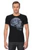 "Футболка Стрэйч ""Лунный Череп"" - skull, череп, луна, волк"