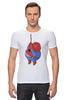 """Футболка Стрэйч (Мужская) """"Fat Spiderman"""" - spider-man, человек-паук, обжорство, спайдермен"""