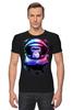 """Футболка Стрэйч """"Обезьяна космонавт"""" - космос, абстракция, обезьяна, monkey, космонавт"""