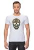 "Футболка Стрэйч (Мужская) ""Череп"" - skull, череп, узор, паттерн, символ, дудл"