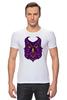 """Футболка Стрэйч (Мужская) """"Ночная Сова (Owl)"""" - сова, owl"""