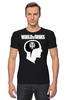 """Футболка Стрэйч """"Brain & WOT """" - мозг, games, игры, игра, game, brain, логотип, world of tanks, танки, wot"""