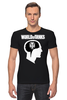"Футболка Стрэйч (Мужская) ""Brain & WOT "" - мозг, games, игры, игра, game, brain, логотип, world of tanks, танки, wot"