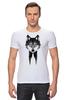 """Футболка Стрэйч (Мужская) """"Мистер Волк"""" - животные, волк, wolf"""