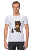 "Футболка Стрэйч (Мужская) ""Бэтмен и Пингвин"" - batman, пингвин, бэтмен"
