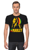 "Футболка Стрэйч ""Боб Марлей (Bob Marley)"" - регги, боб марли, bob marley, ska, jamaica"
