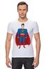 "Футболка Стрэйч (Мужская) ""Супермен (Superman)"" - супермен, superman, супергерой, dc"