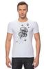 """Футболка Стрэйч (Мужская) """"Meduzz T2"""" - море, графика, медуза, дотворк, jellyfish, tm kiseleva"""