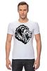 """Футболка Стрэйч (Мужская) """"proud lion """" - лев, lion"""