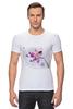 """Футболка Стрэйч (Мужская) """"Розовая орхидея"""" - акварель, орхидея, розовый цветы"""