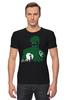 """Футболка Стрэйч """"Зеленый Фонарь (Green Lantern)"""" - зеленый фонарь, green lantern"""