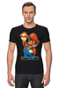 "Футболка Стрэйч (Мужская) ""Супер Марио"" - nintendo, super mario, mario bros, супер марио, видеоигры"
