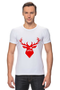 "Футболка Стрэйч (Мужская) ""Ho Ho Ho..."" - christmas, deer, reindeer"